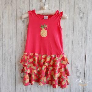 Gymboree Aloha Sunshine Ruffle Tiered Dress Size 6